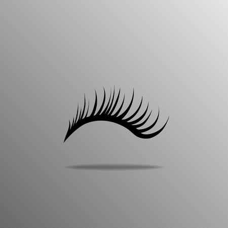 black eyelashes icon on a gray background