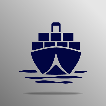 tanker: tanker Icon blue on a gray background