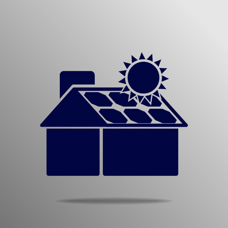 panels: solar panels blue on a gray background