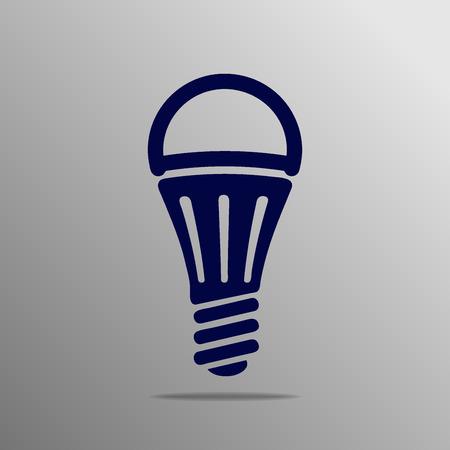 led lamp: LED lamp blue on a gray background Illustration