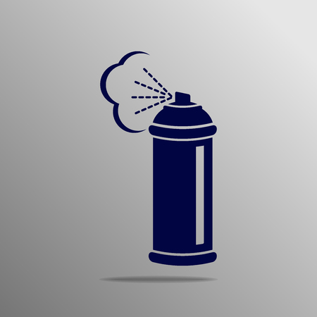compressed gas: Spray icon blue on a gray background