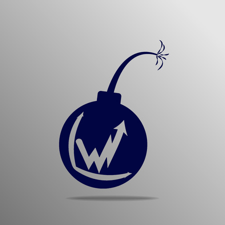 impact tool: Bomb icon blue on a gray background