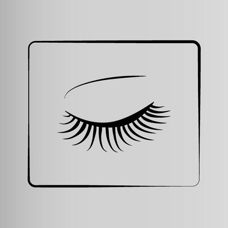 long eyelashes: Eyelashes icon Illustration