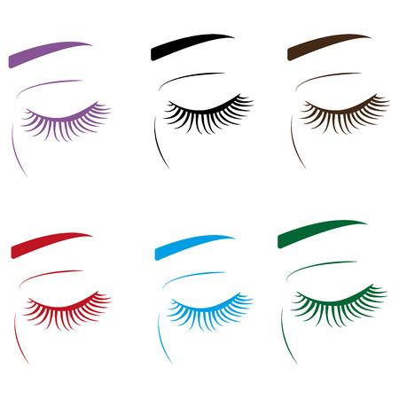 eyebrows: colorful Eyelashes and eyebrows Illustration