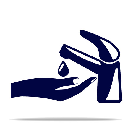 please wash your hands icon: Wash your hands mandatory sign