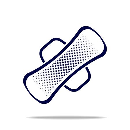 sanitary: blue sanitary towel icon