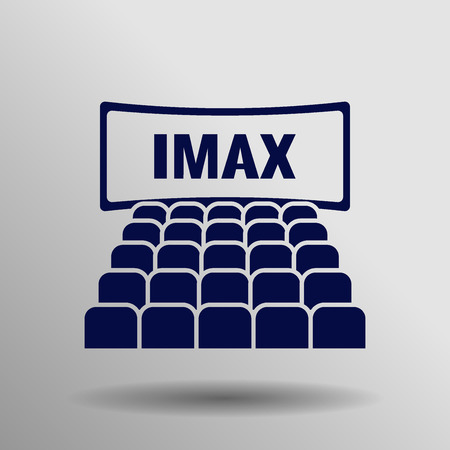 movie screen: People watching movie in cinema theater, isometric concept. Cinema auditorium interior with audience, blank screen and seats, vector illustration