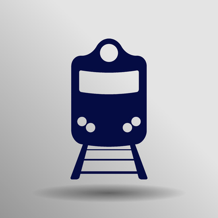 highspeed: Train icon, isolated vector  illustration Illustration
