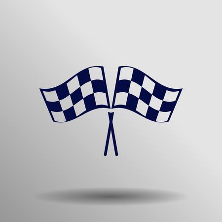 racing flag: racing flag icon Illustration
