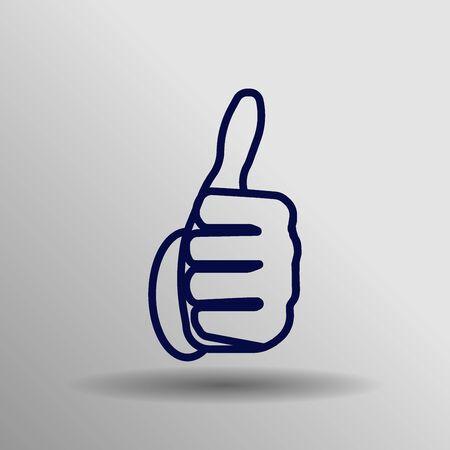 thumb up icon: Vector thumb up icon