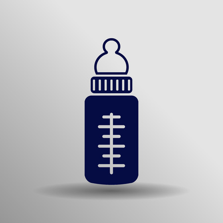 child care: vector outline icon of baby bottle. baby bottle vector illustration. child care vector icons Illustration