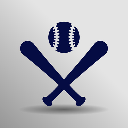 bunt: blue Baseball Icon button symbol concept high quality on the gray background