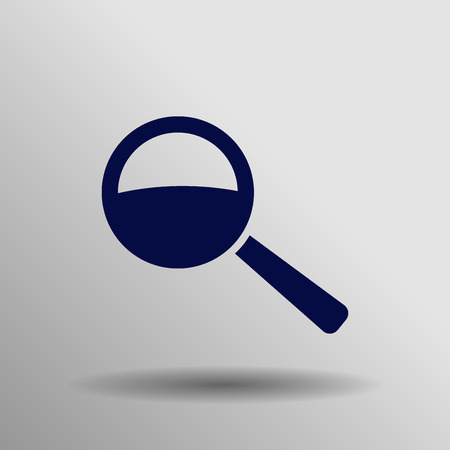 blue Search Icon button symbol concept high quality on the gray background