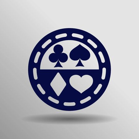 blue Casino icon button symbol concept high quality on the gray background