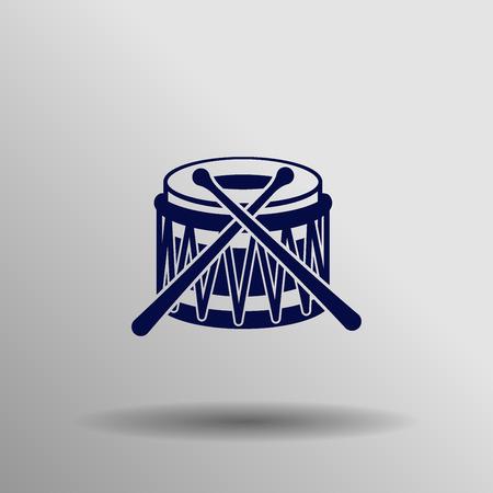 rhythm rhythmic: blue Drum Icon button symbol concept high quality on the gray background Illustration