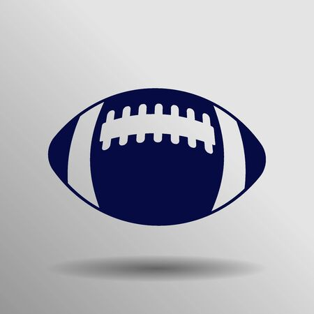 blue American Football Icon button symbol concept high quality on the gray background Illustration