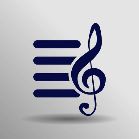 blue Playlist Icon Vector button symbol concept high quality on the gray background