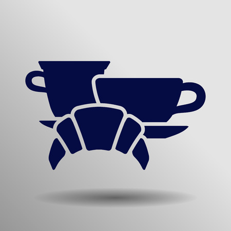 french toast: blue breakfast icon button  symbol concept high quality on the gray background