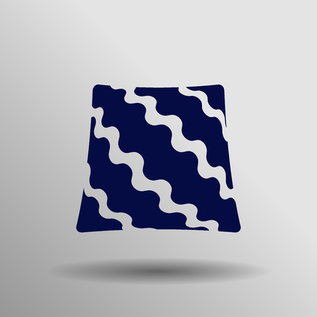 sleeping bags: blue Pillow icon button  symbol concept high quality on the gray background Illustration