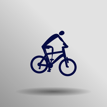 high road: blue Road cycling icon button  symbol concept high quality on the gray background Illustration
