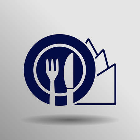 blue Diet Icon button  symbol concept high quality on the gray background