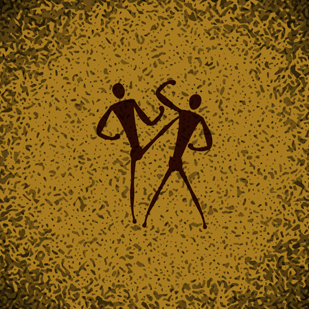 sidekick: sport Taekwondo icon button  symbol concept high quality on brown background Rock background