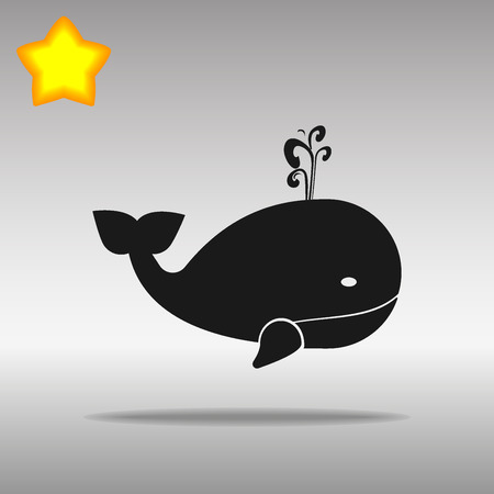 black whale Icon button logo symbol concept high quality on the gray background