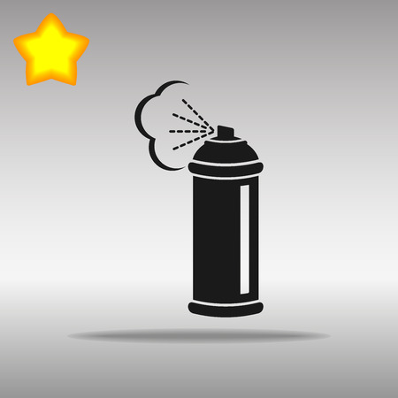 compressed gas cylinder: black Spray Icon button logo symbol concept high quality on the gray background