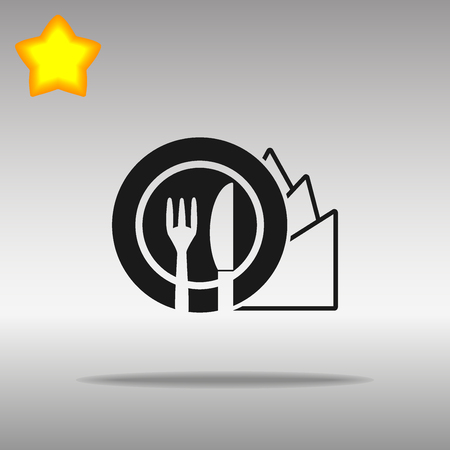 Diet black Icon button logo symbol concept high quality on the gray background