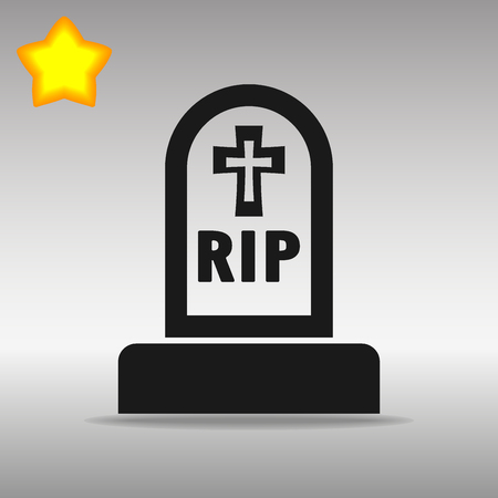 grave black Icon button logo symbol concept high quality on the gray background ЛОГОТИПЫ