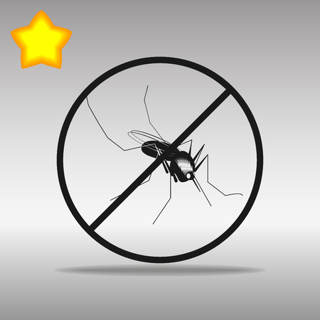 Mosquito ban black Icon button logo symbol concept high quality on the gray background