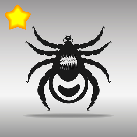 lyme disease: mites  black Icon button logo symbol concept high quality on the gray background