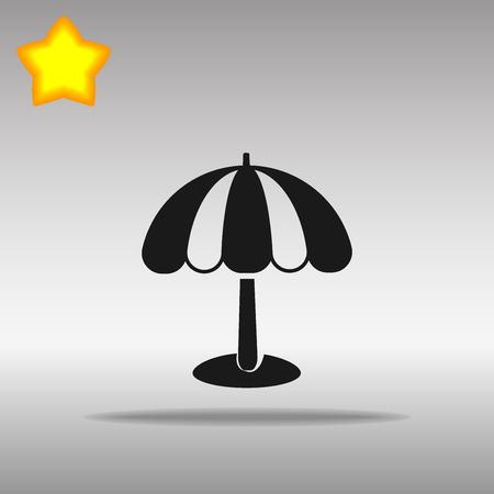 Beach umbrella black Icon button logo symbol concept high quality on the gray background Vectores