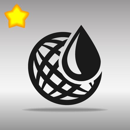 湿度天気センサー黒アイコン ボタン ロゴ シンボル コンセプト高品質灰色の背景に  イラスト・ベクター素材