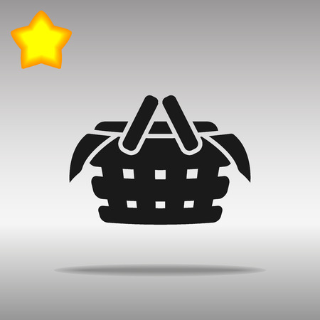 black Picnic Icon button logo symbol concept high quality on the gray background