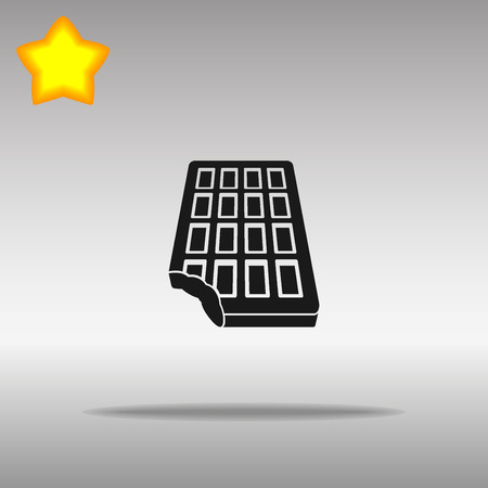 chocolate black Icon button logo symbol concept high quality on the gray background Vectores