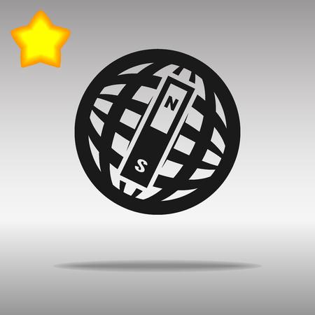 compass black con button logo symbol concept high quality on the gray background Vectores