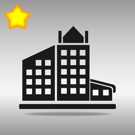 black building Icon button logo symbol concept high quality on the gray background Vectores
