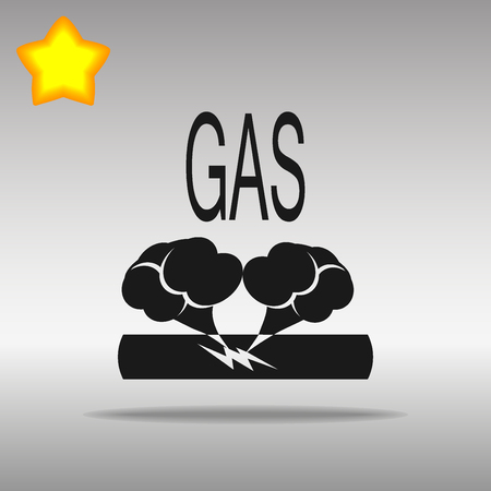 Pipe damage gas black Icon button logo symbol concept high quality on the gray background