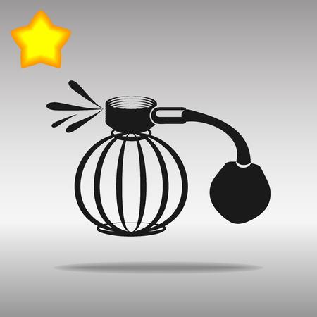 stink: Perfume aerosol black Icon button logo symbol concept high quality on the gray background