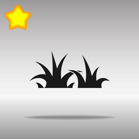 black Grass Icon button logo symbol concept high quality on the gray background