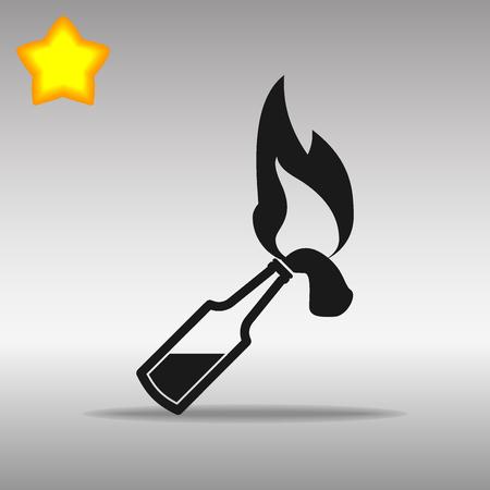 Molotov black Icon button logo symbol concept high quality on the gray background