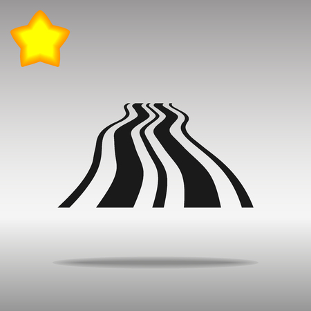 black Road Icon button logo symbol concept high quality on the gray background Vectores