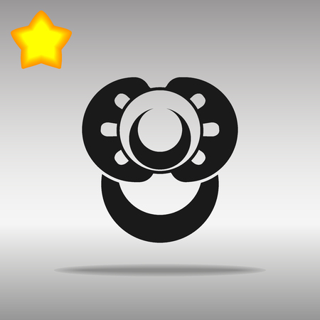 Nipple black Icon button logo symbol concept high quality on the gray background Иллюстрация