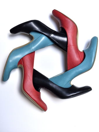 carrousel: shoe carrousel Stock Photo