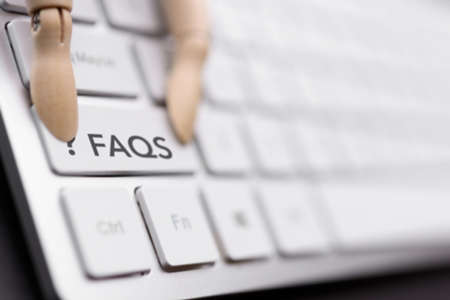 question and answer concept on a keyboard key. FAQS