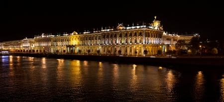 October 2017. View of St. Petersburg. Winter Palace in night Reklamní fotografie