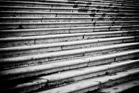 dramatic black and white photo of stairs of a historic building in Saint Petersburg, Russia Reklamní fotografie