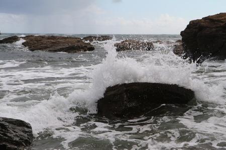 Waves crushing into the rocks - Cornwall, UK Reklamní fotografie