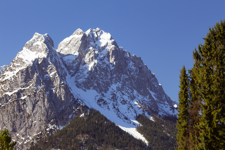Zugspitze, the highest mountain of Germany